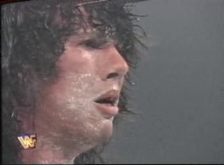 WWF / WWE - In Your House 6 - Rage in the Cage - 123 Kid upset after losing to Razor Ramon