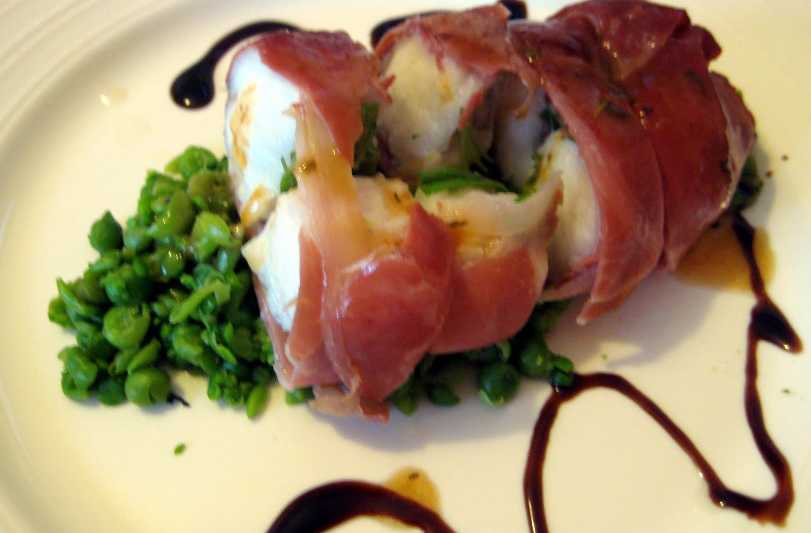 Serena 39 s medium rare food fit for the queen roasted for Monkfish and parma ham recipe