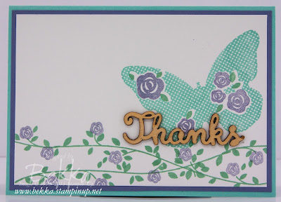 Pretty Card featuring the amazing Floral Wings Stamp Set - check it out here