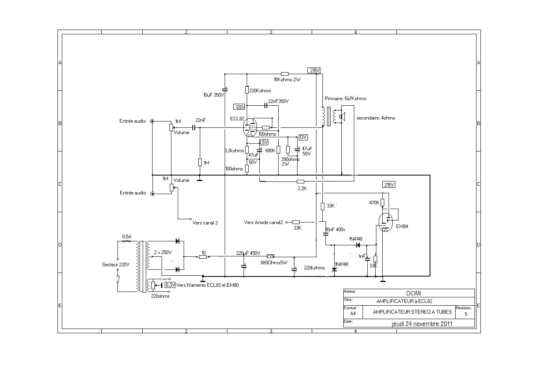 amplificateur a tubes ecl82. Black Bedroom Furniture Sets. Home Design Ideas