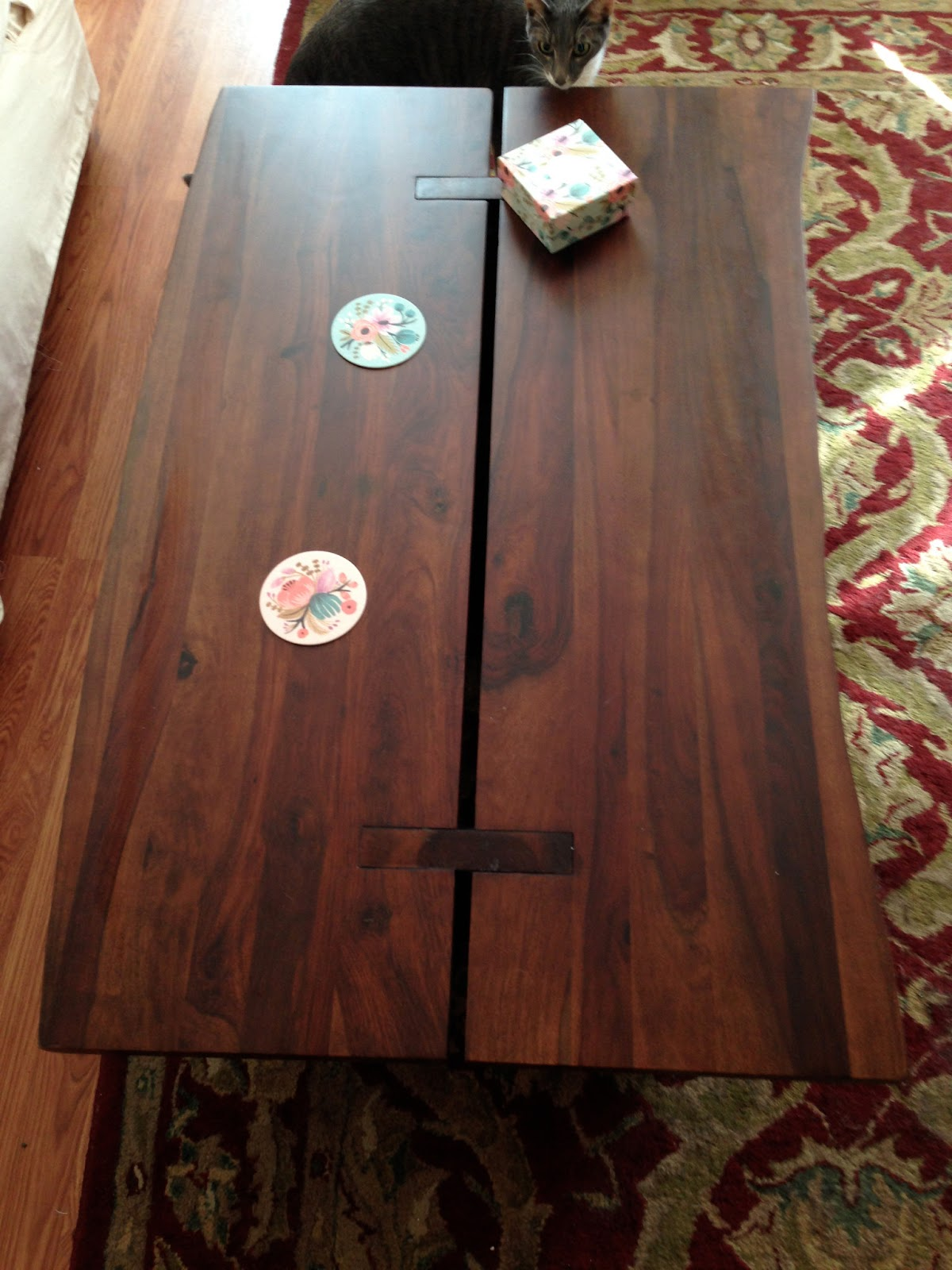Beany Malone West Elm Raw Edge Coffee Table Part 2