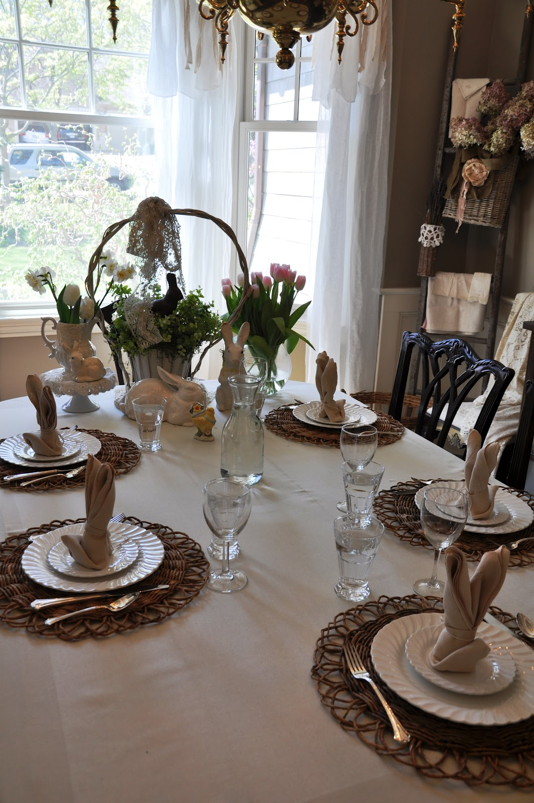 Serendipity Refined Blog Simple Easter Dinner Table Setting