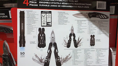 4 Piece Multi-Function Tool Set: great for camping, emergencies, or for the car