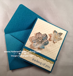faux cloisonne flower card
