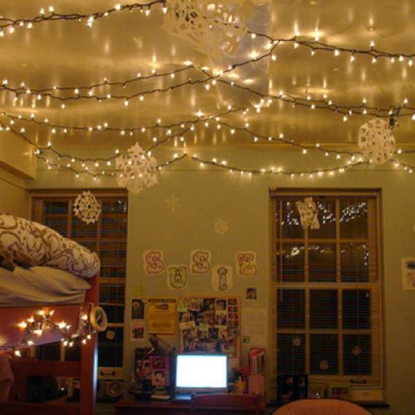 how do you use christmas lights for home decor after christmas season
