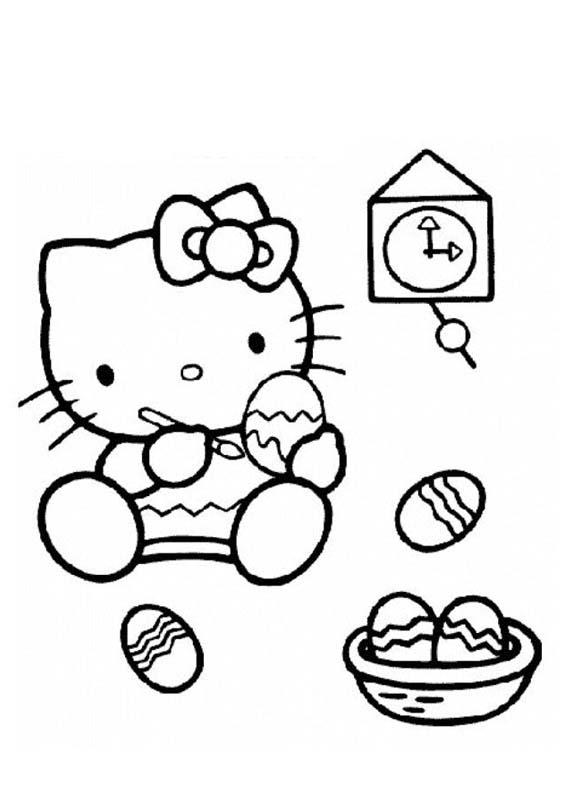 Desenho como desenhar Hello Kitty Para Meninas pintar e colorir