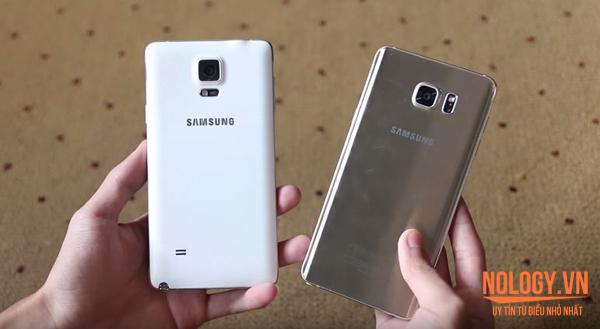 so sánh Samsung Galaxy Note 4 Hàn Quốc và Note 5