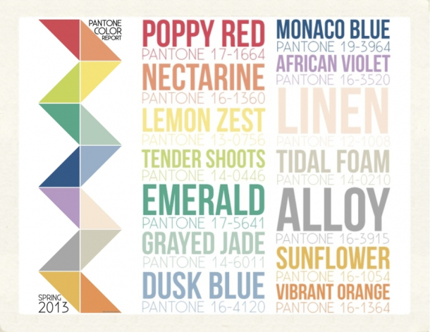 Color trends of the season pantone fashion color report spring 2013