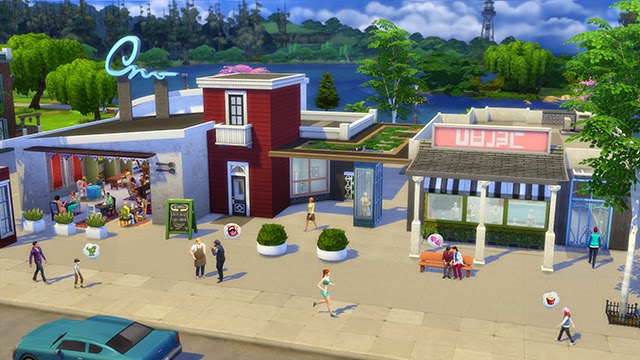 how to get sims to work in gallery restaurants