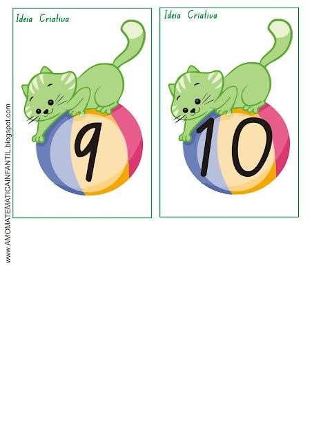 Flash Cards 1 a 10 Gatinho da Galinha Pintadinha