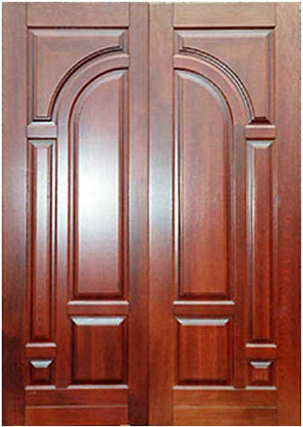 New collection kerala model wooden front door double for Door models for house