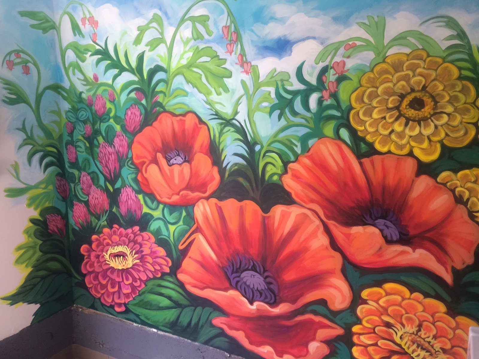 The talking walls may 2015 for Mural flower
