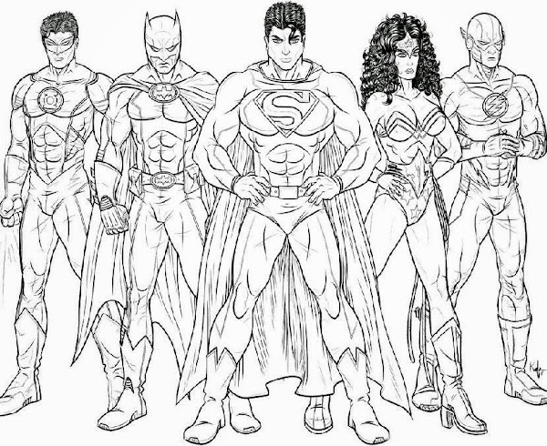 Justice League Coloring Pages Adult