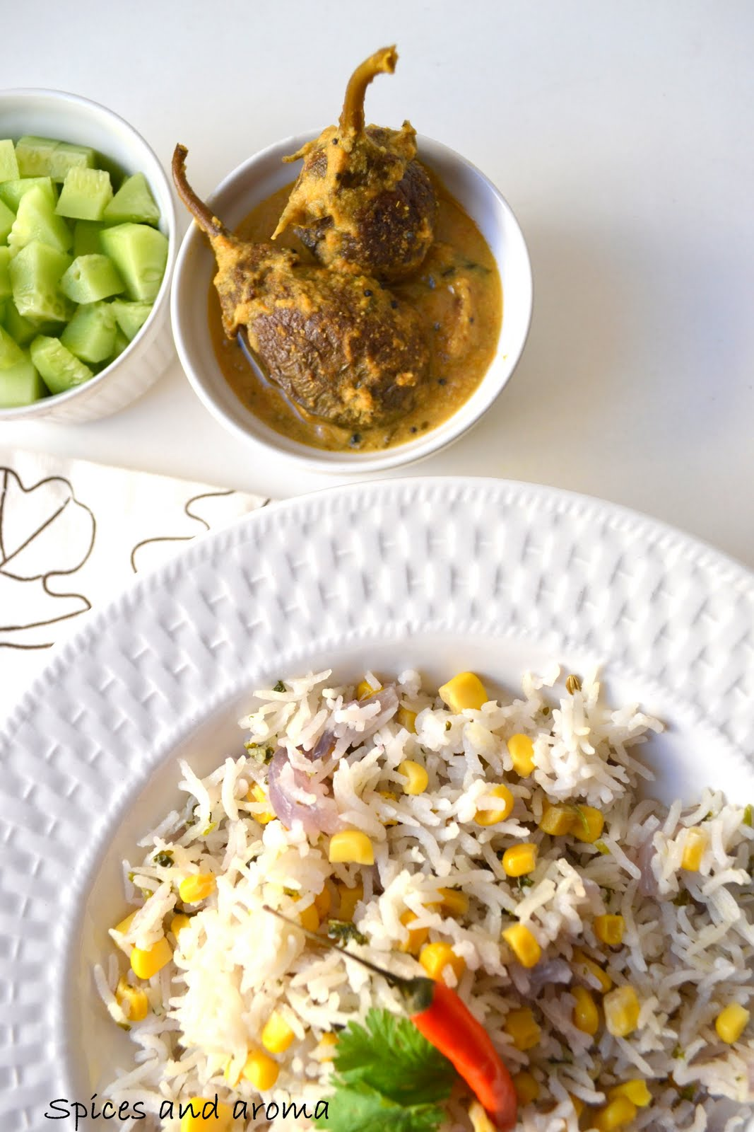 Corn Pilaf | Spices and Aroma