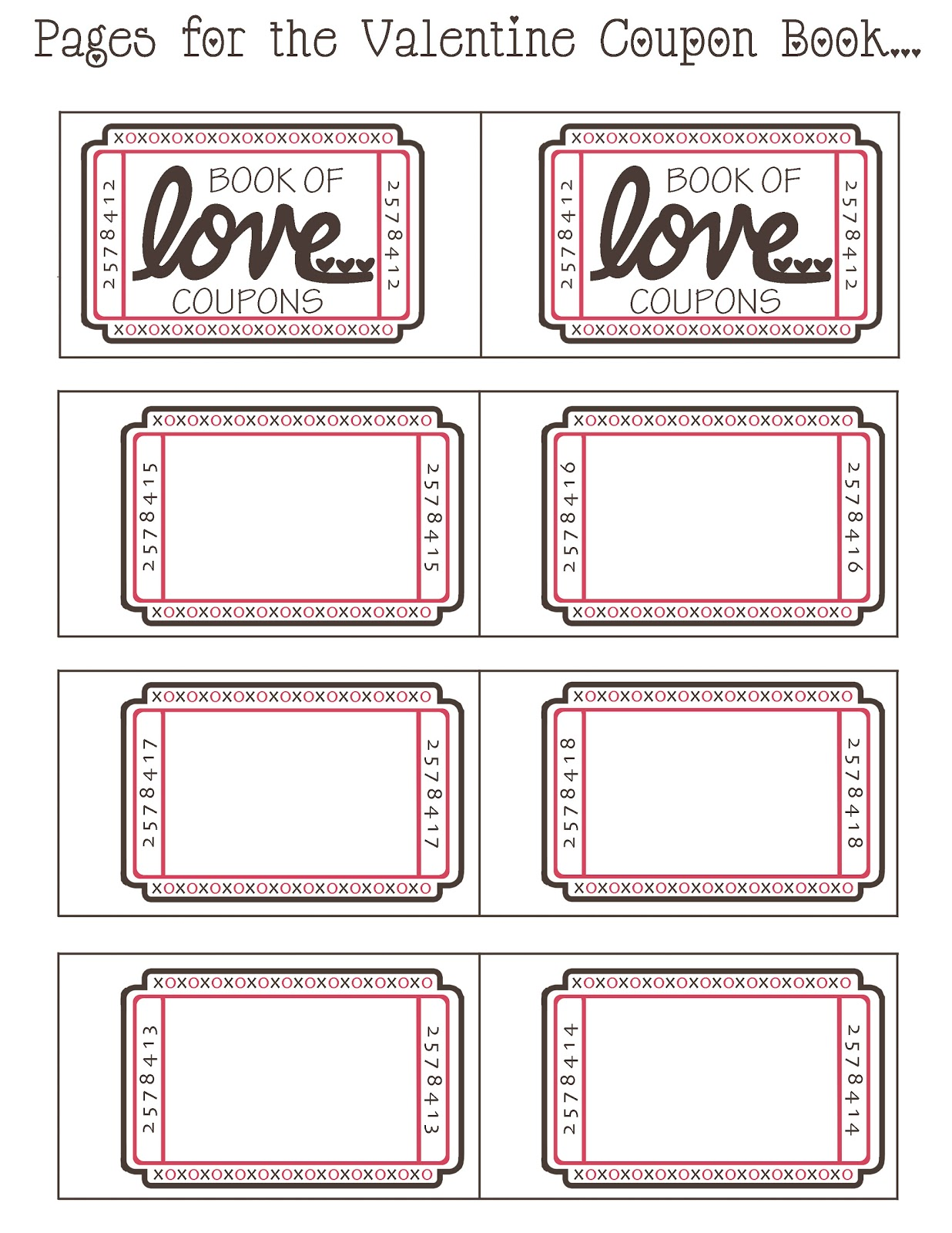 romantic coupon book template - the gallery for printable blank coupons