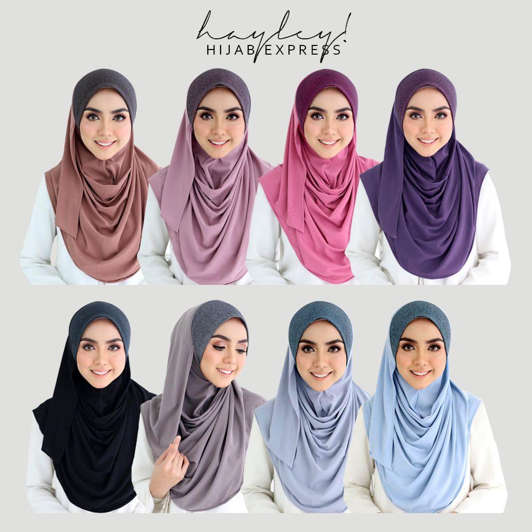 Pelbagai jenis shawl senang saja utk digayakan tak sampai 2 saat dah siap