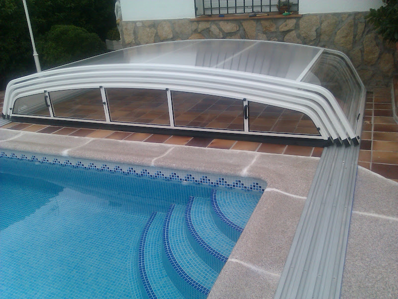 Fotos de cubierta de piscina instalada en toledo - Cerramiento para piscinas ...