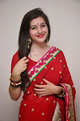 Priyal Gor Dazzling in Red Saree-thumbnail-2