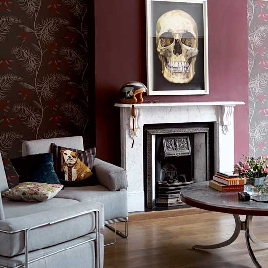 Living Room Decorating Ideas With Dado Rail new home interior design: take a tour around a rock'n'roll