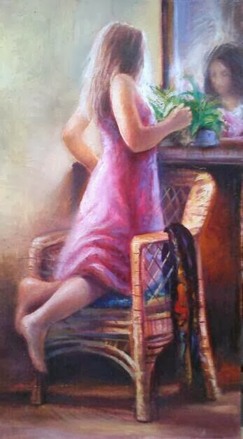-PINTURA-FIGURA-OIL ON CANVAS-FEMME-PAINTING