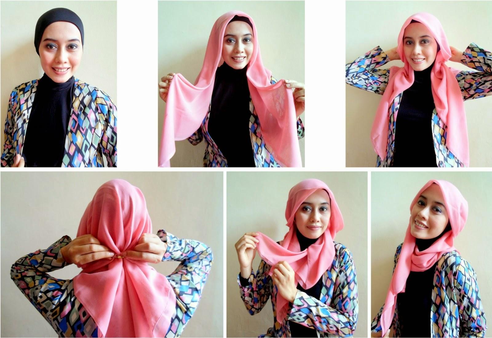Memakai Jilbab Segi Empat Yang Simple Dan Mudah