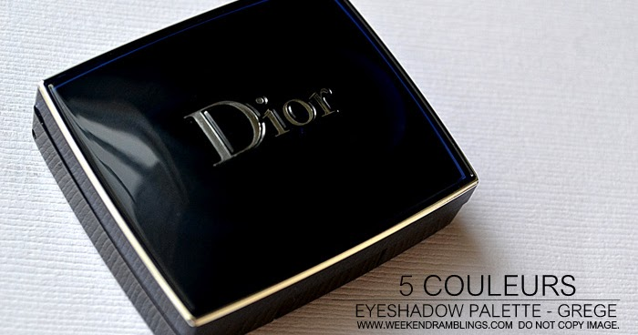 weekend ramblings dior 5 couleur eyeshadow palette in grege review swatches fotd part of. Black Bedroom Furniture Sets. Home Design Ideas