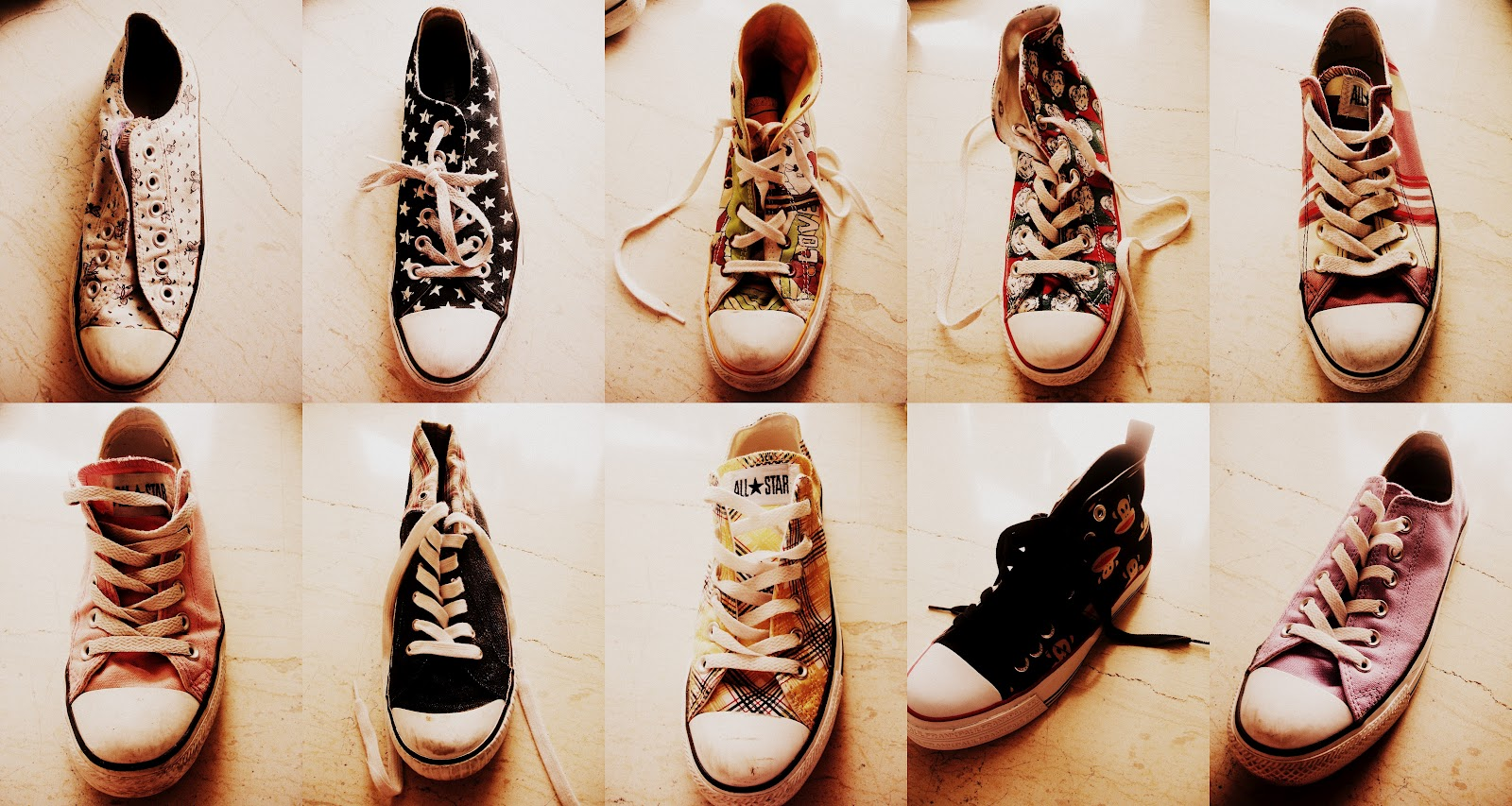 My Converse Collection. Butterflies, Stars, Love and Bees, Santa Claus ...