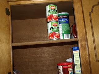 Half empty cabinet