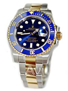 ROLEX SUBMARINER DATE STEEL AND YELLOW GOLD BLUE CERAMIC 116613 BOX/PAPERS