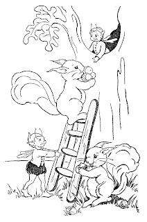 digital squirrel storybook image