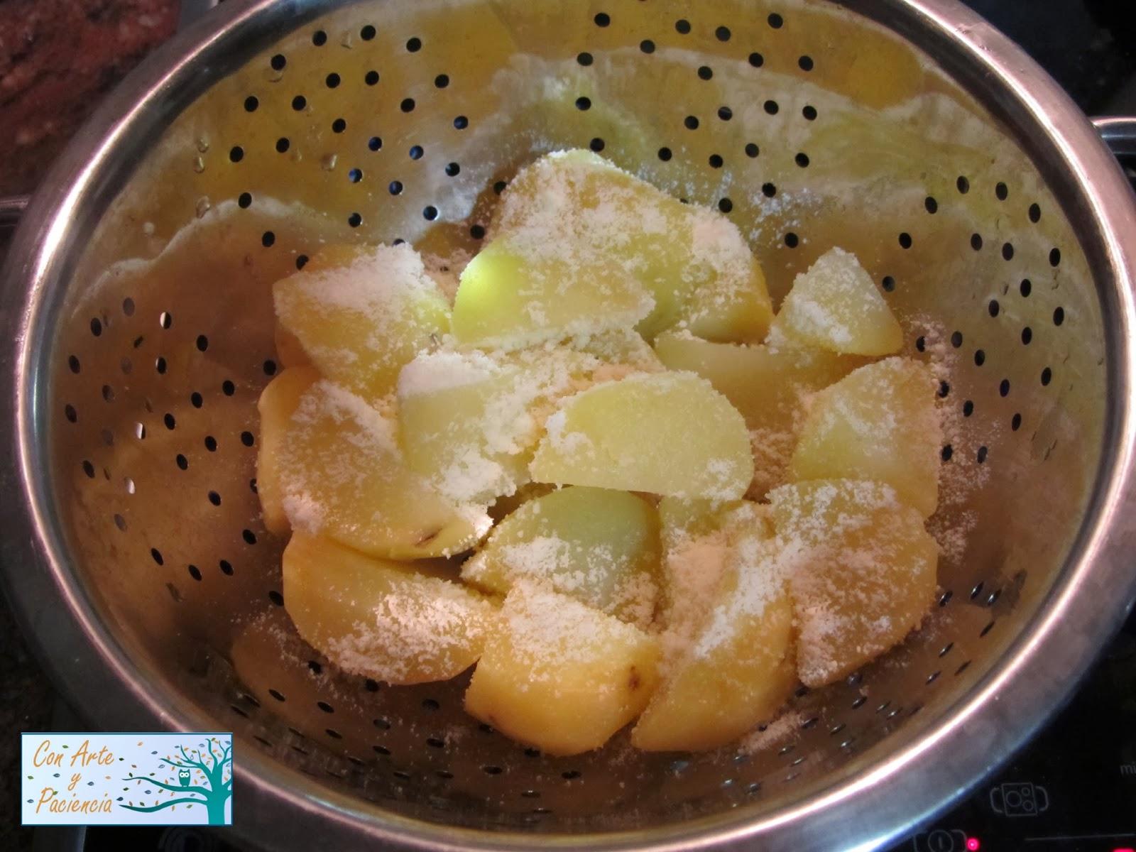 Ante todo con arte y paciencia patatas rebozadas con - Tiempo para cocer patatas ...