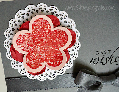 Best Wishes Greeting Card Embossed Details
