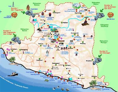 Peta Wisata Kabupaten Gunung Kidul