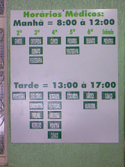 Placa com Horários