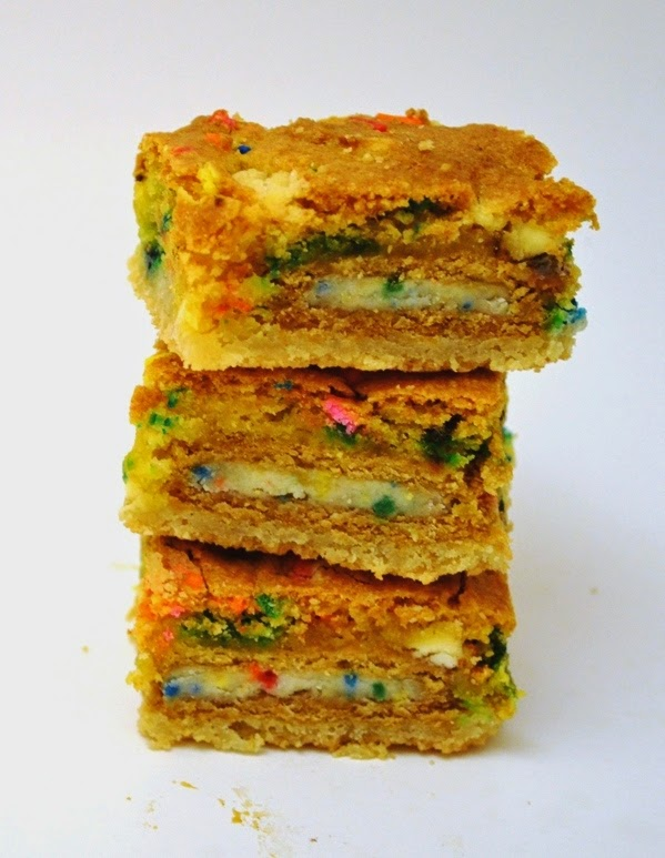 ... : Sugar Cookie and Golden Birthday Cake Oreo Cake Batter Blondie Bars