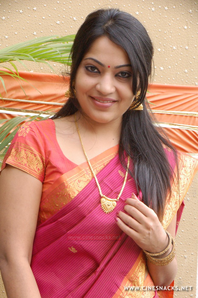 Ramya Vijay Tv Anchor In Silk Saree S