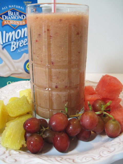 Pineapple Grape and Watermelon Smoothie Recipe