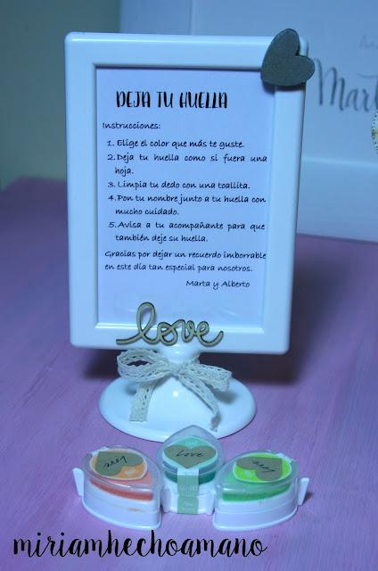 nstrucciones arbol huellas boda