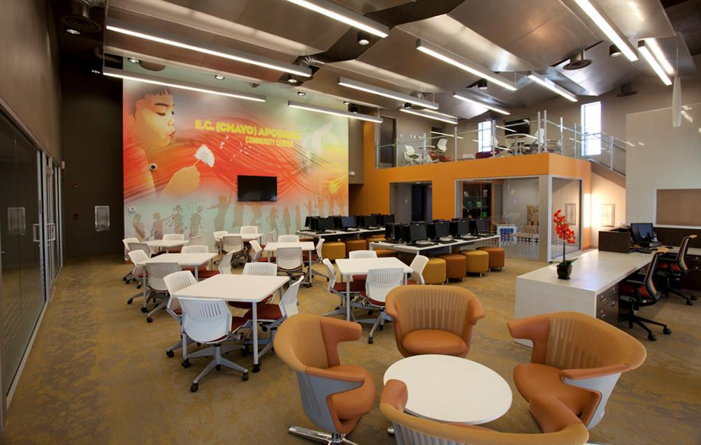 Sleek + Vibrant Interior. The Mural Was Also Designed In House By Our  Graphic Artist. Design Team Created A Sense Of Place And Facility That  Provides End ...