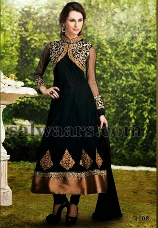 Black Silk Trendy Salwar Suit