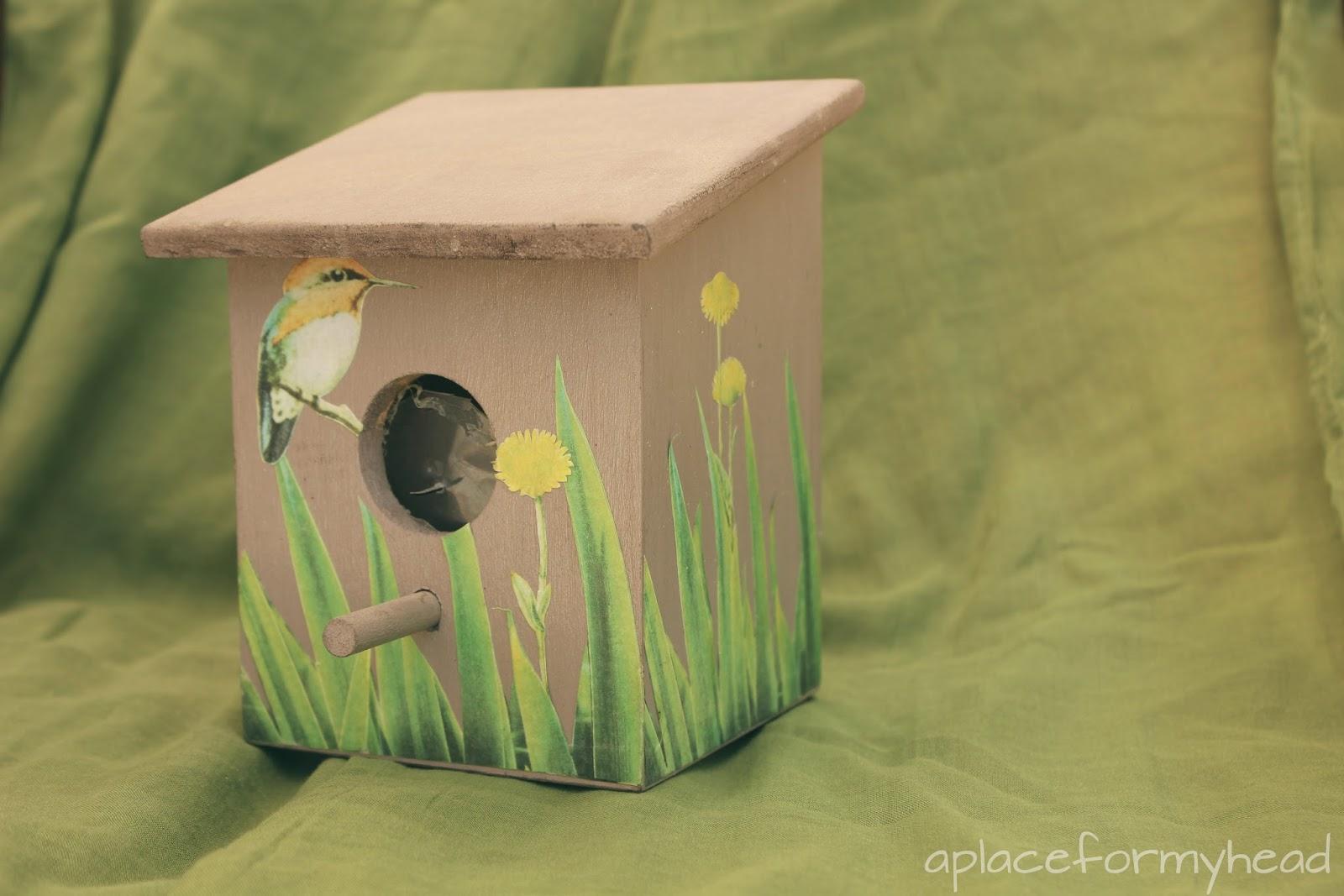 Casita de p jaros handbox craft lovers comunidad diy - Casita para pajaros ...