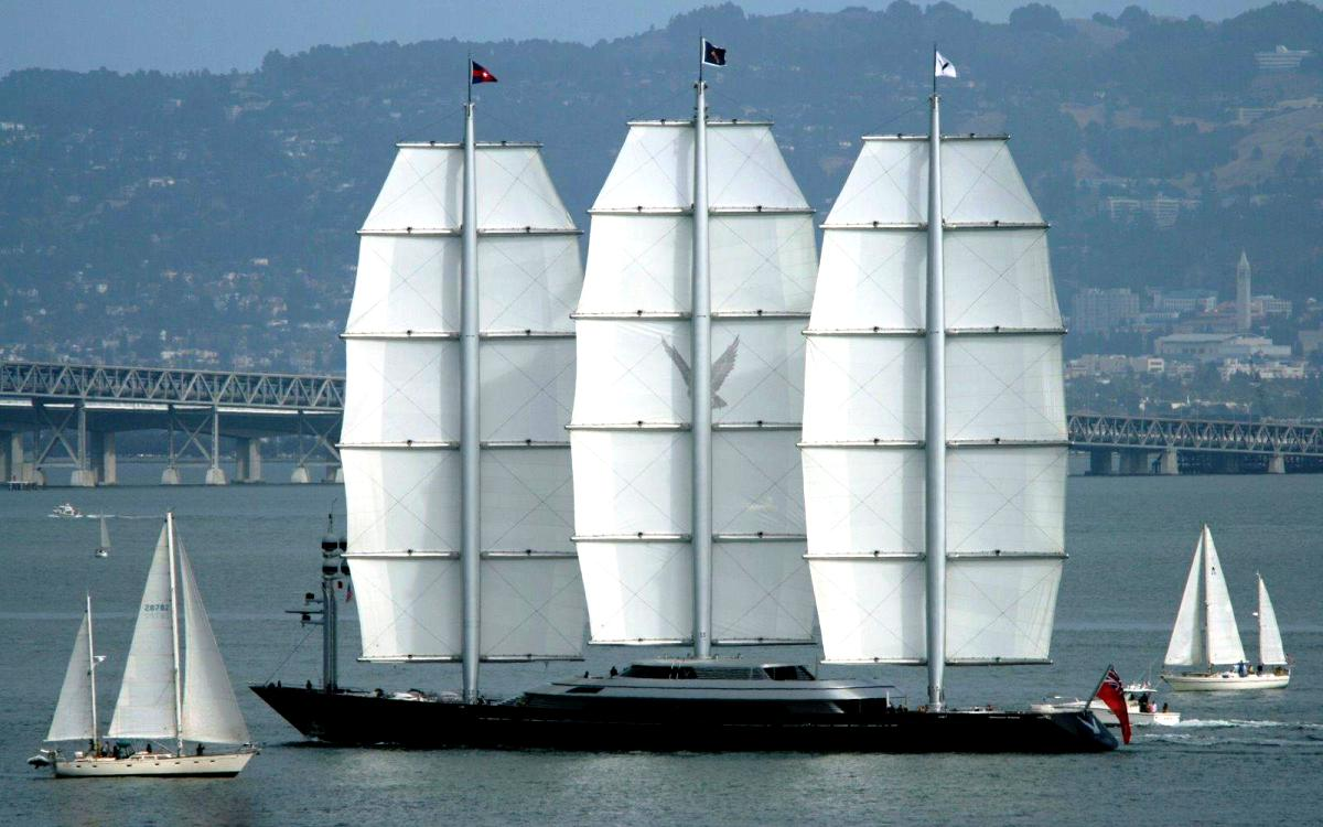SY Maltese Falcon Sailing Ship Wallpaper 3