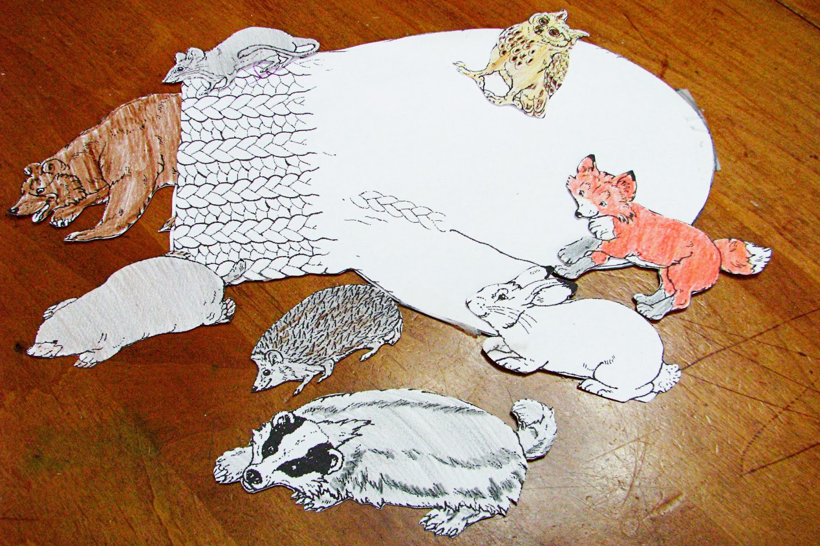 Put The Animals In Mitten on The Mitten Sequencing Activity