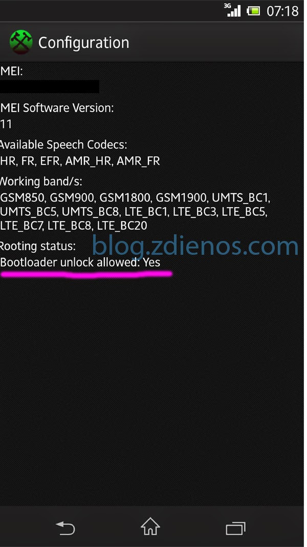cara unlock bootloader xperia go