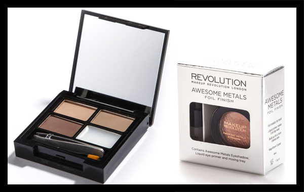 Makeup Revolution - Focus & Fix Brow Kit Light, Awesome Metals Foil Finish