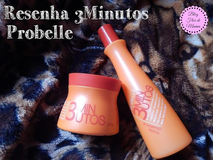 Resenha: Shampoo e Máscara de Hidratação 3minutos PROBELLE