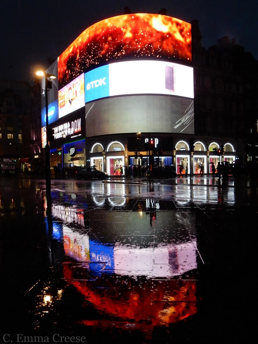 Picadilly Circus by rainfall Friday figments and photos