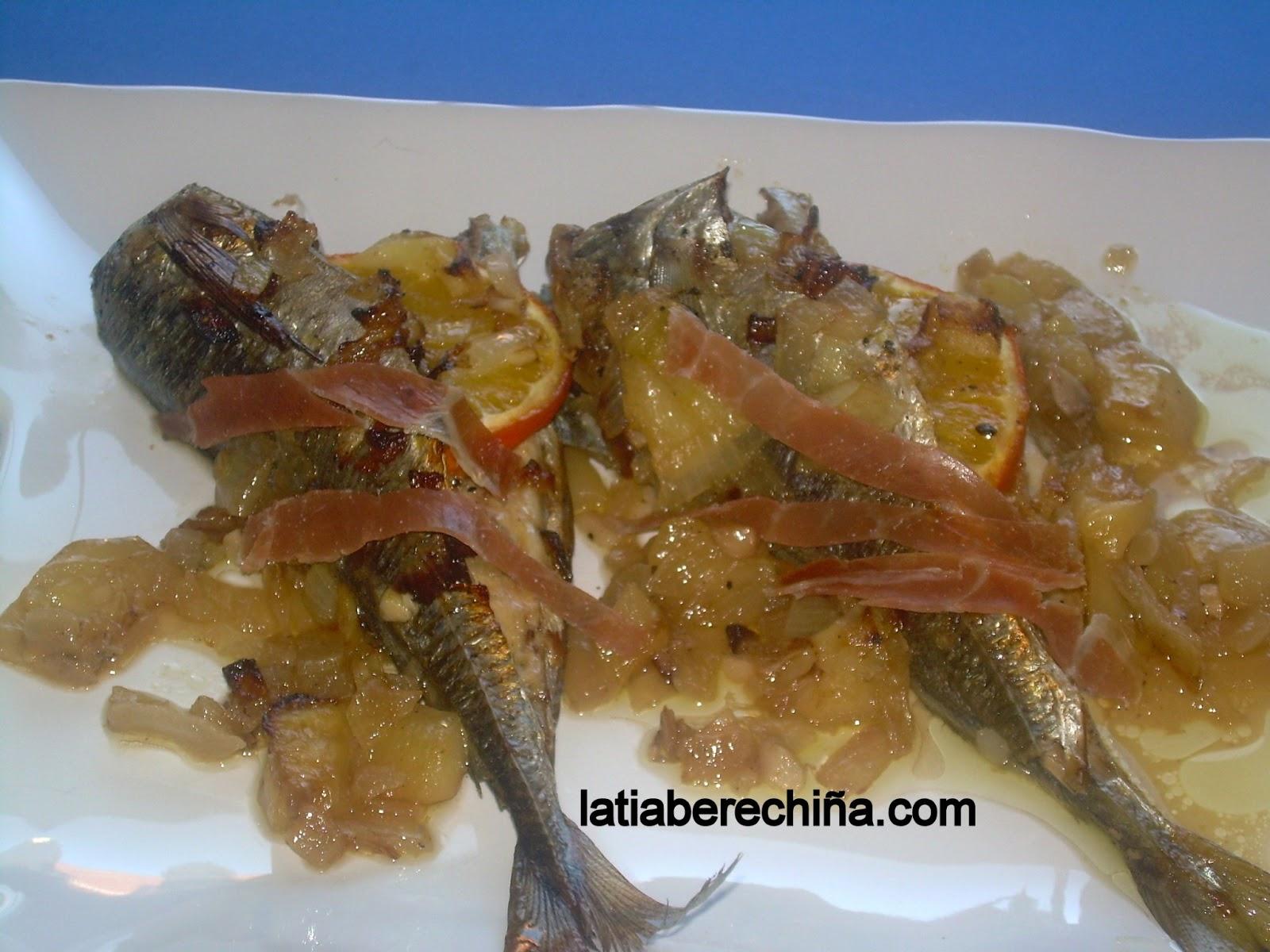 El blog de la tia berechi a jurel al horno con naranja for Cocinar jurel