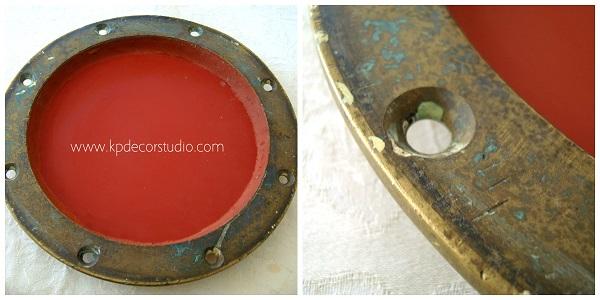 Tienda online de espejos vintage dorados de bronce y latón. Objetos de barco antiguos