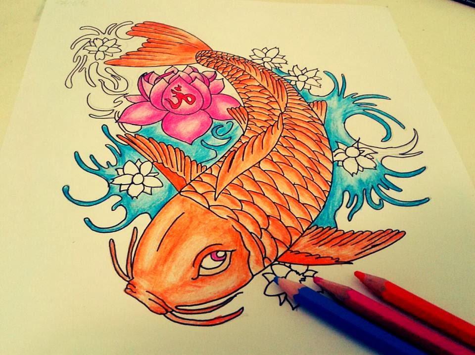 tattoo drawings carpa china 2